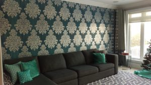 Wallpaper Installation & Home Painters in Toronto - CAM Painters, during project